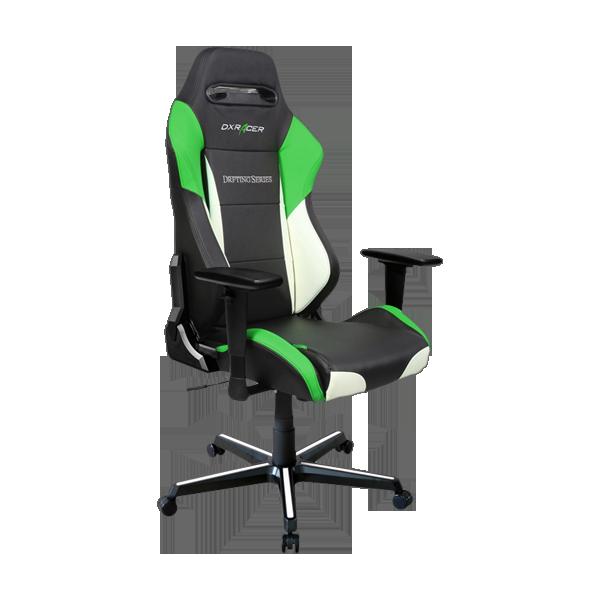 DXRacer Drifting OH/DM61/NWE Black/White/Green