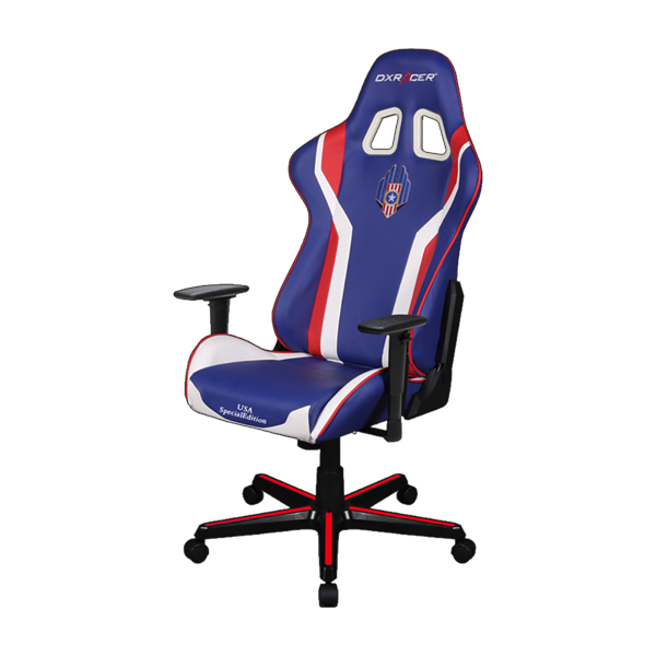 DXRacer Formula OH/FL186/IWR Blue/White/Red фото