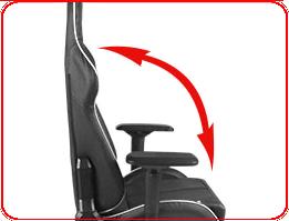 Большой угол регулировки наклона спинки DXRacer OHIS166N